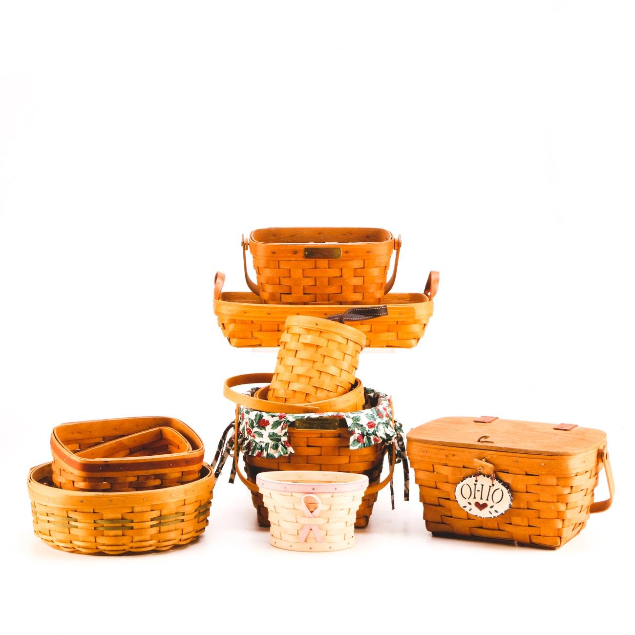 Handcrafted Longaberger Basket Assortment