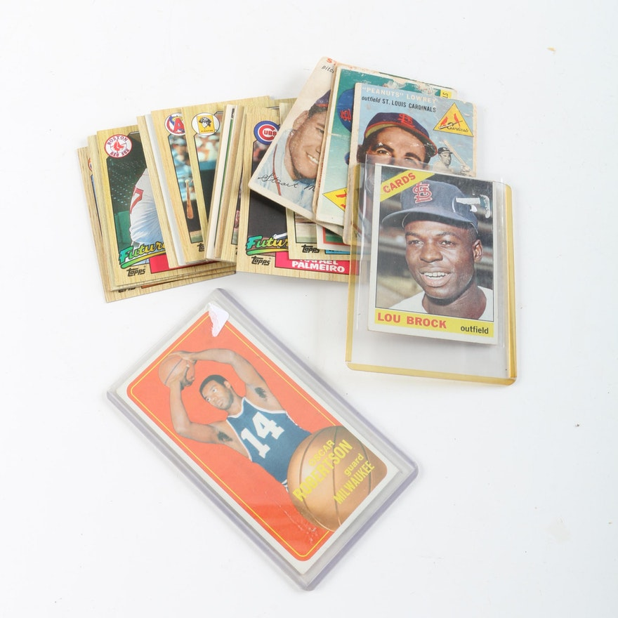 1960s And 1980s Topps And Sportflics Baseball Cards