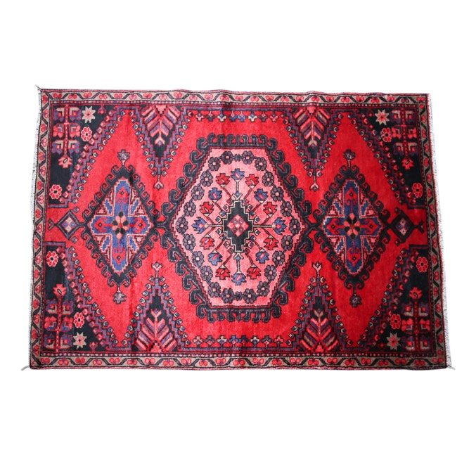 Hand-Knotted Persian Viss Wool Area Rug