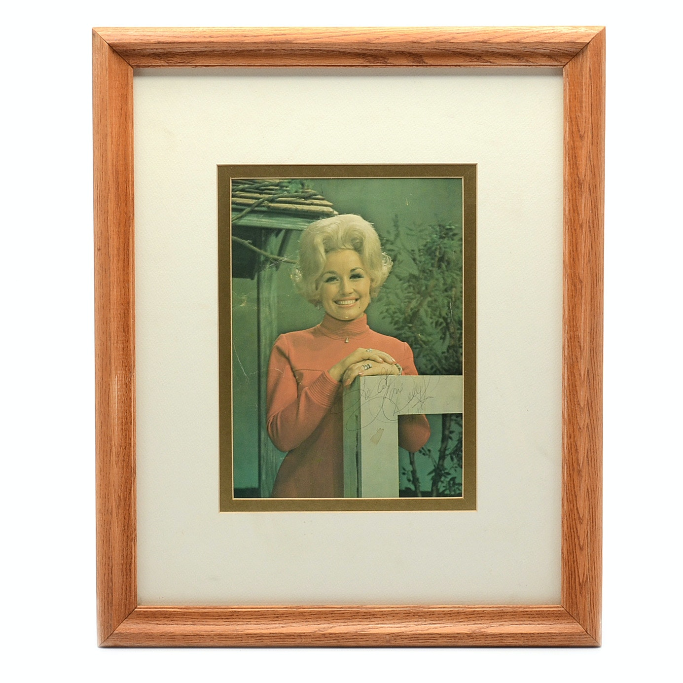 Autographed Print after Photograph of Dolly Parton