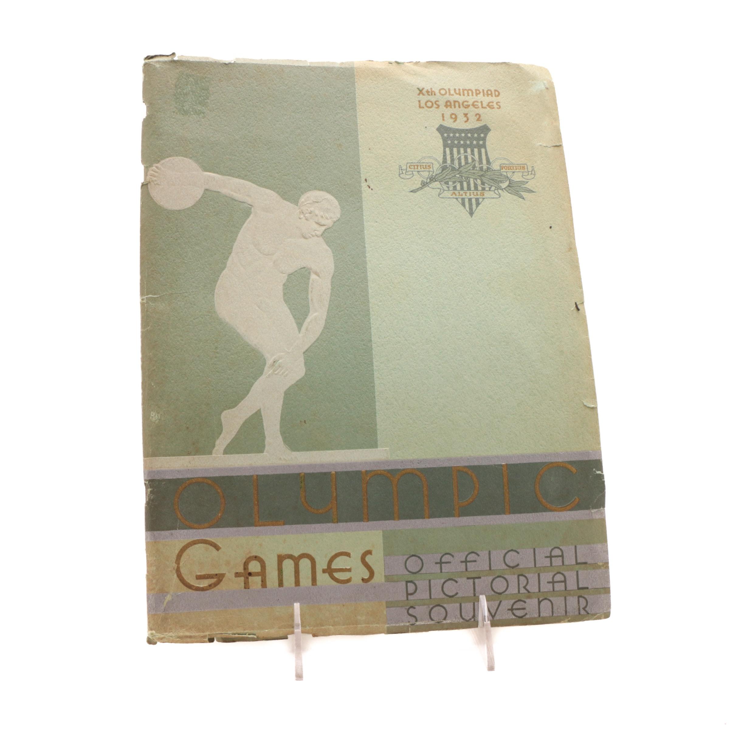 1932 Los Angeles Olympics Souvenir Book