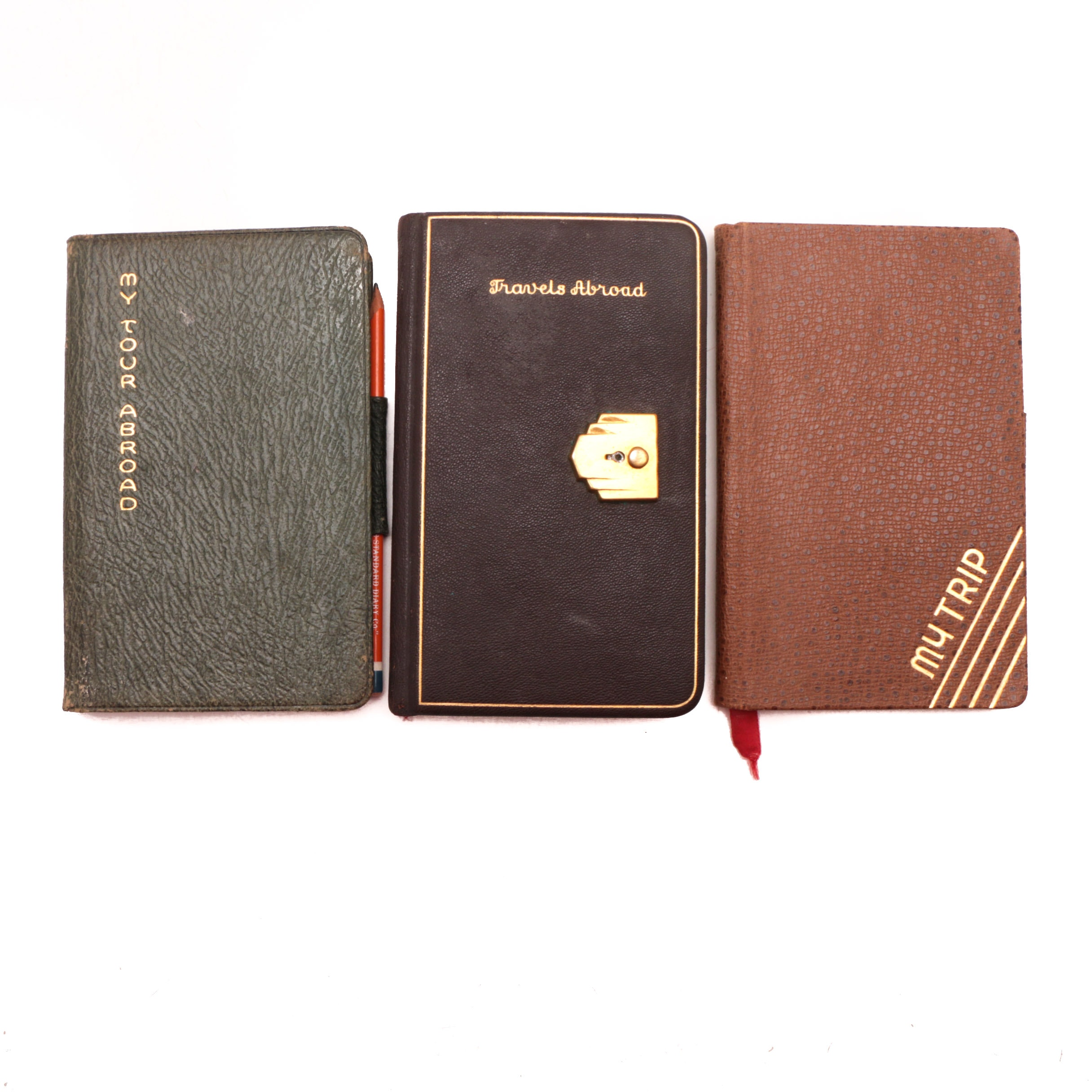 Three 1930s-1940s Vintage Travel Diaries