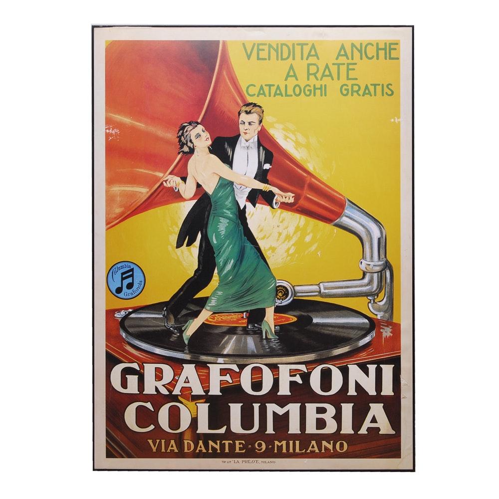 Italian Grafofoni Poster