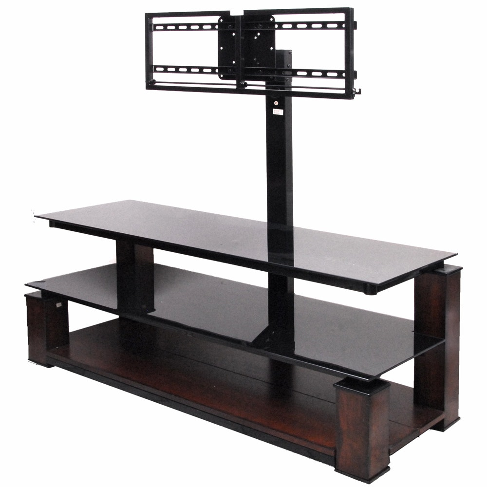 Three Tier Media Stand with Television Mount