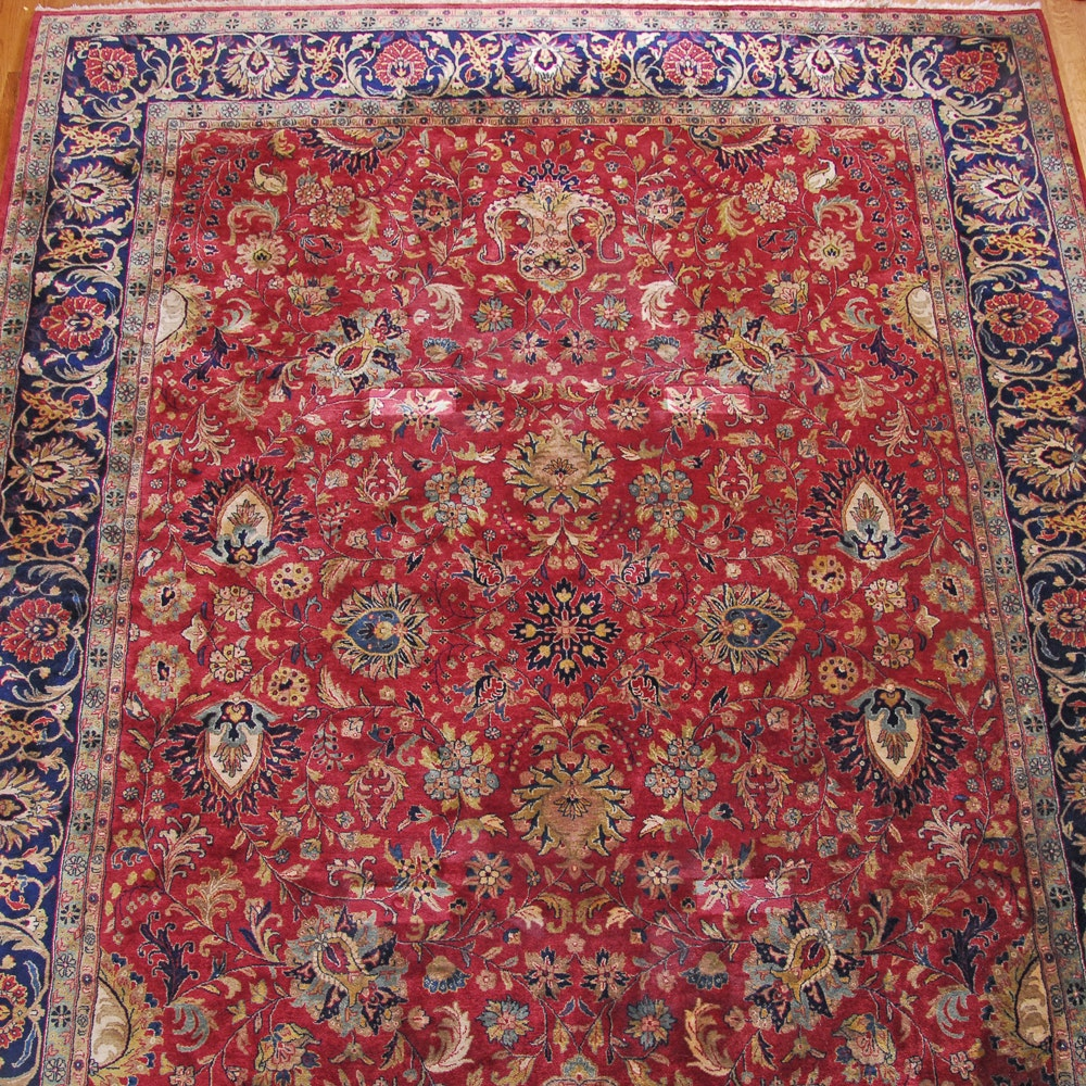 Hand-Knotted Persian Inspired Wool Room Sized Rug by Stickley Designer Rugs