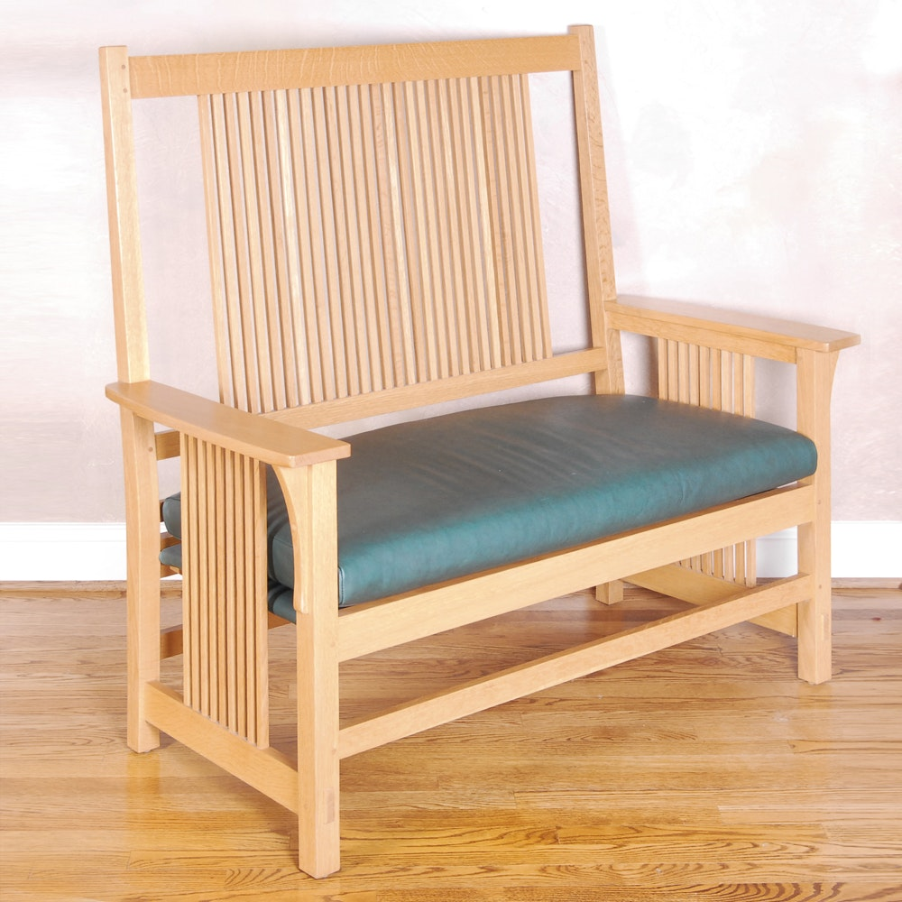 Stickley Spindle Settee