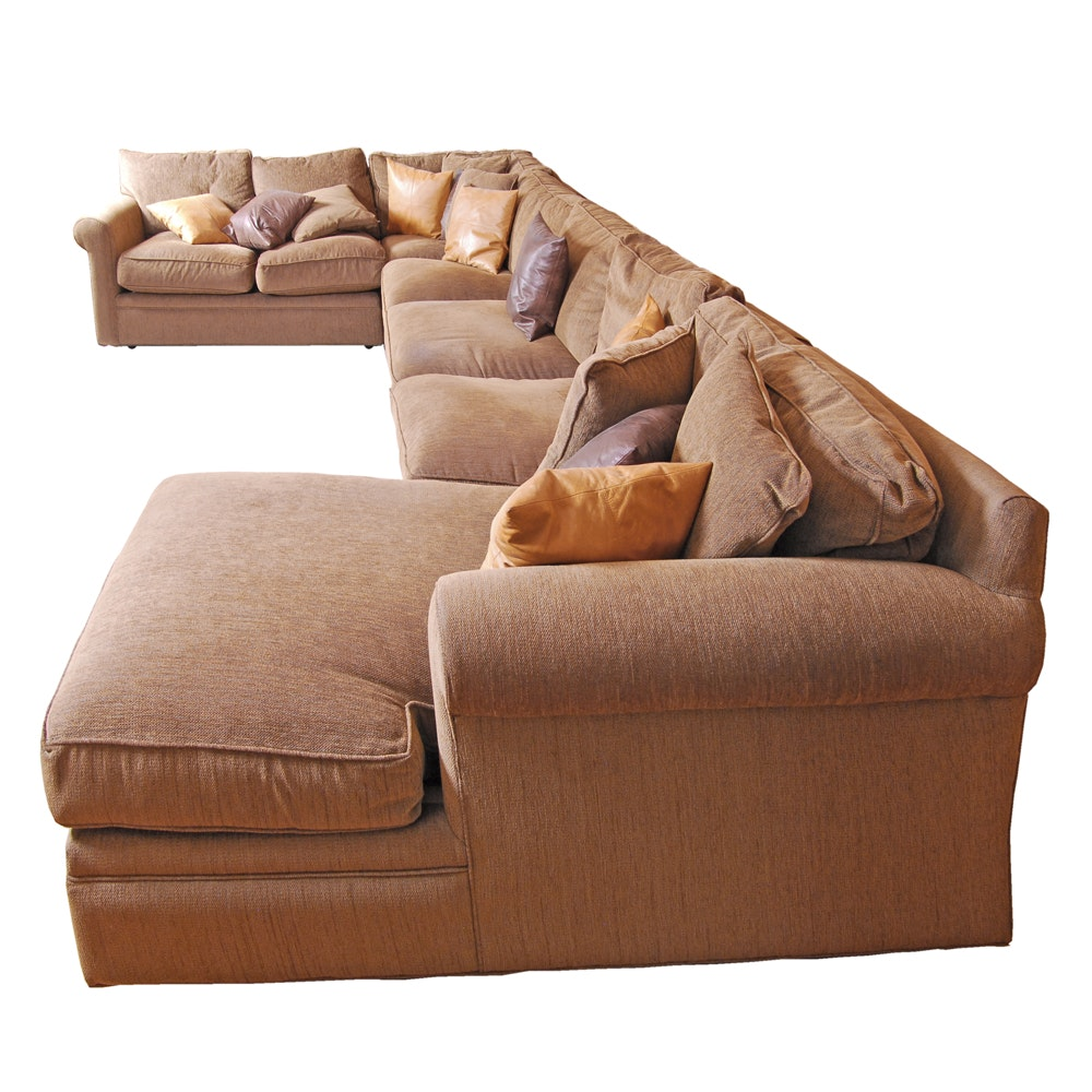 Contemporary Upholstered Sectional Sofa by Crate & Barrel