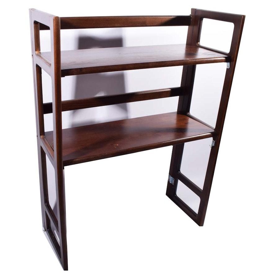 Wood Stackable Folding Bookshelf
