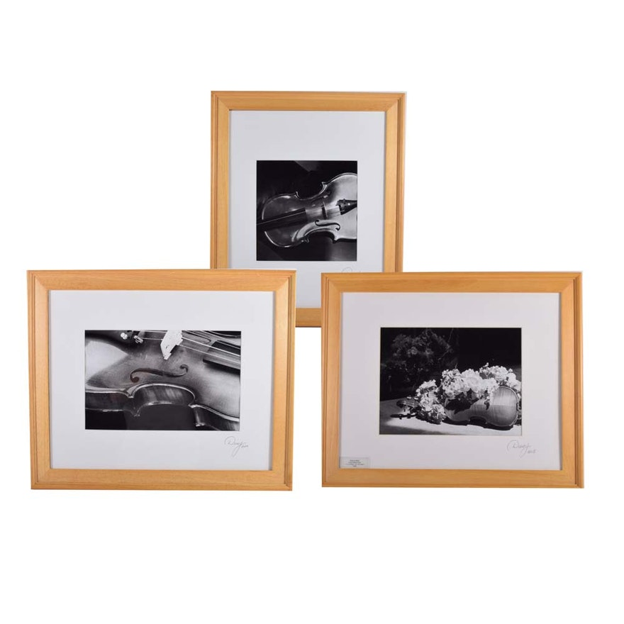 Set of Three Framed Black and White Photographs : EBTH