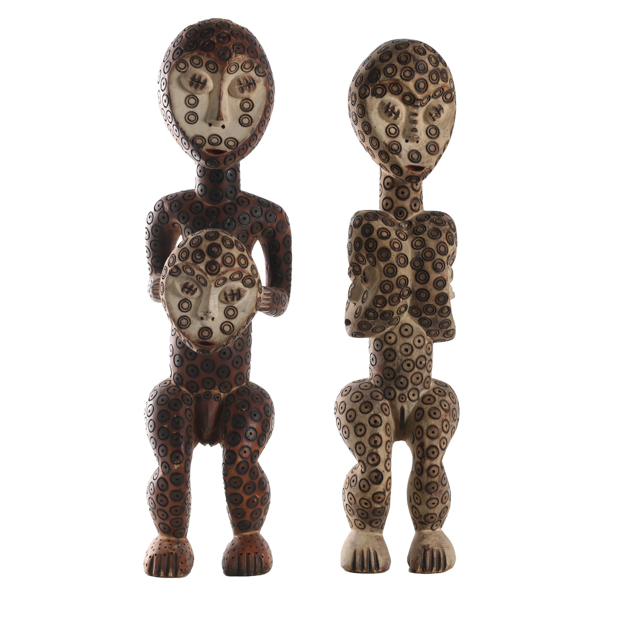 20th Century Carved Wooden Lega Sculptures
