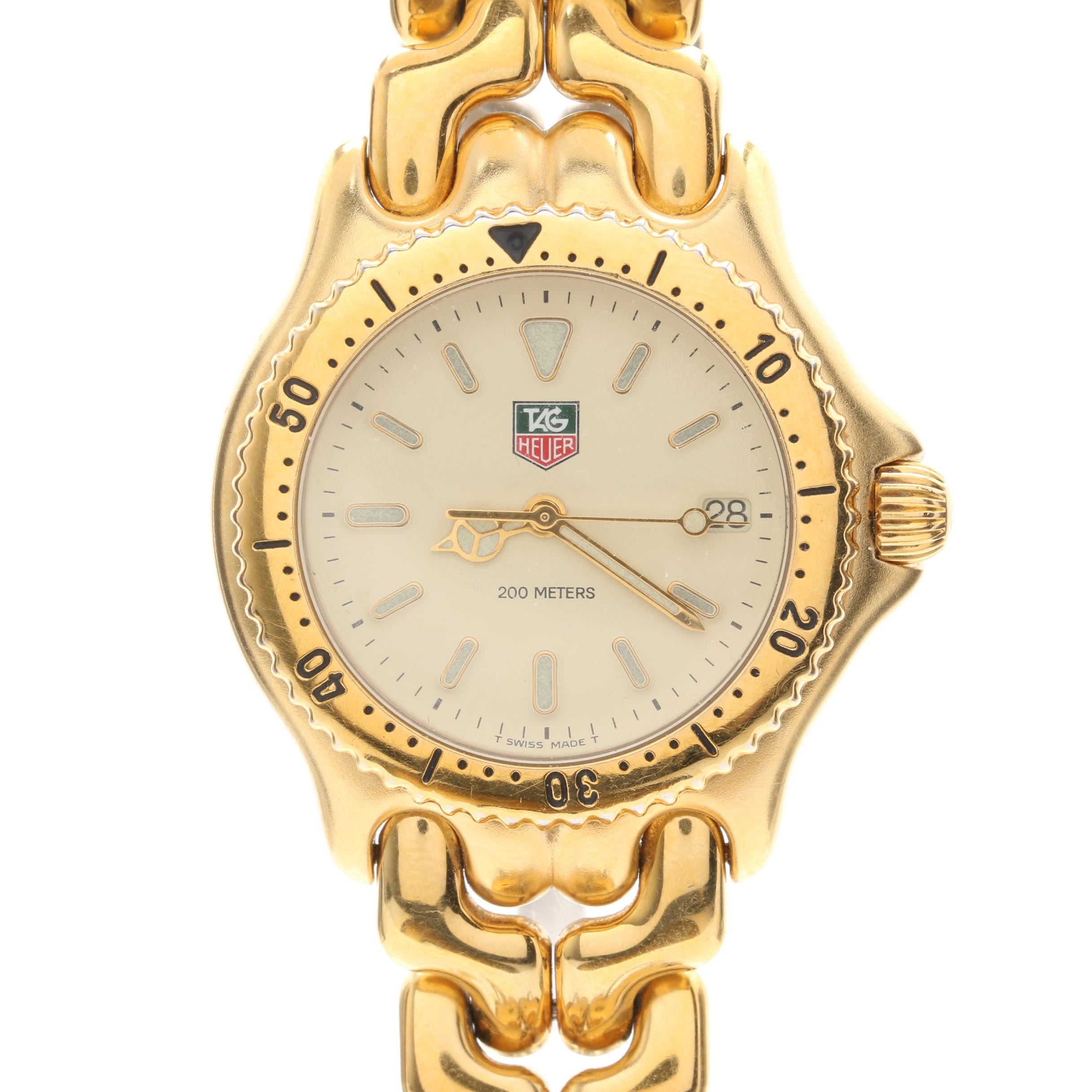 TAG Heuer Gold-tone Stainless Steel Wristwatch with Date Window