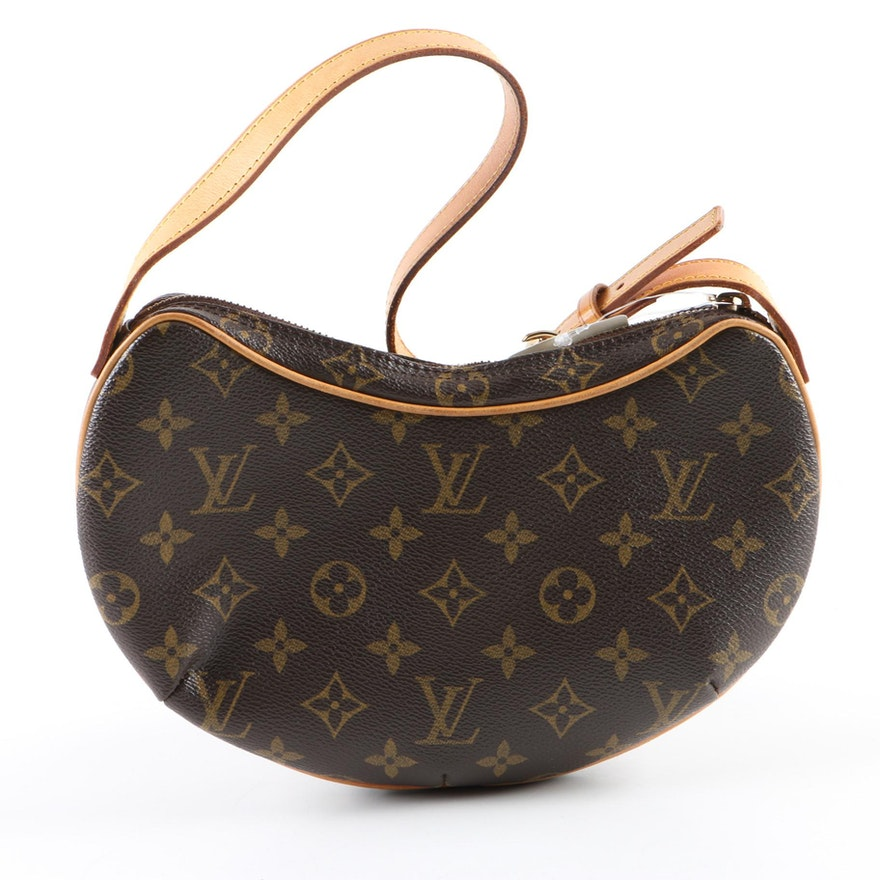 eaeeeaa1173 Louis Vuitton of Paris Monogram Canvas Croissant PM Shoulder Bag   EBTH
