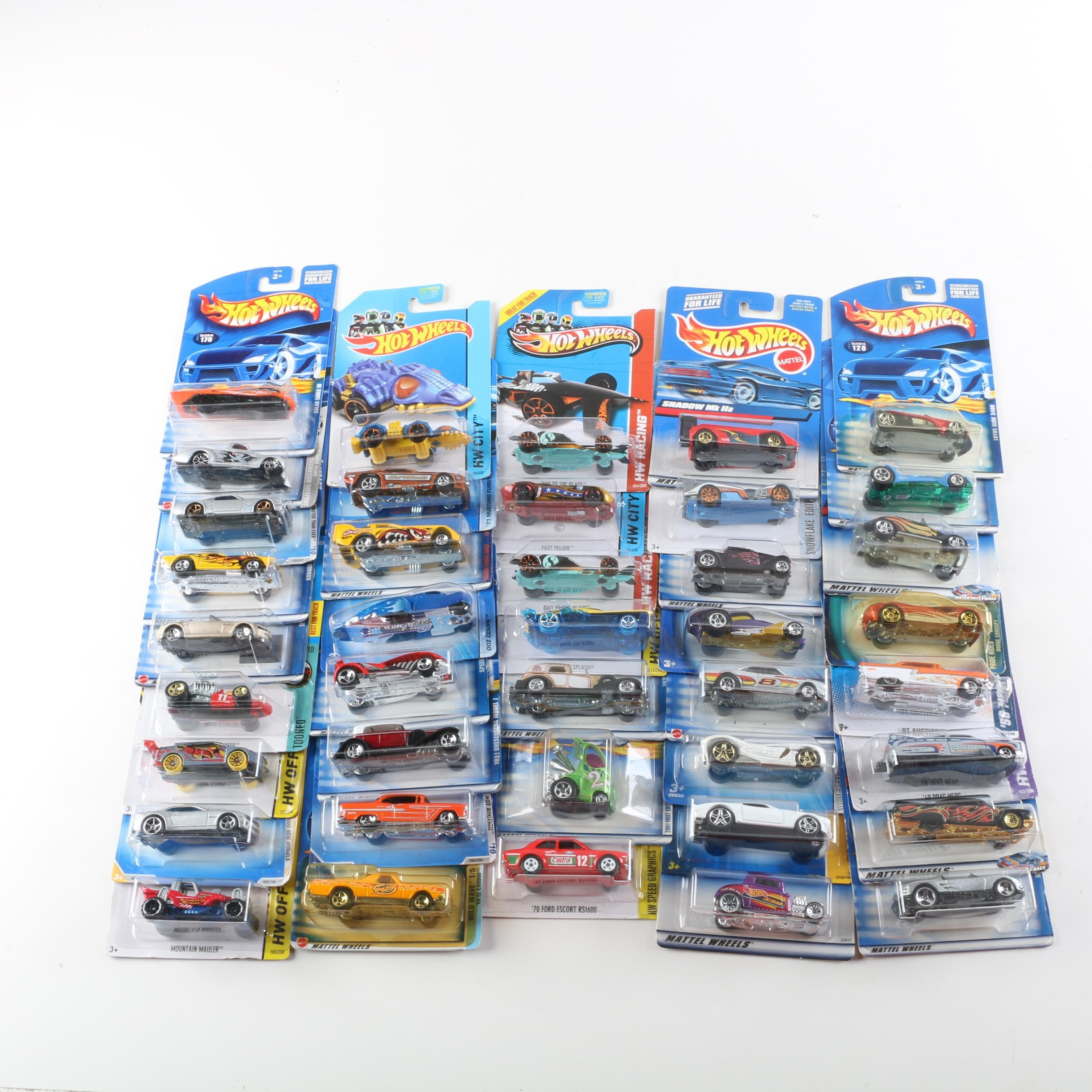 "Hot Wheels Die-Cast Cars Including ""HW Speed Graphics"""