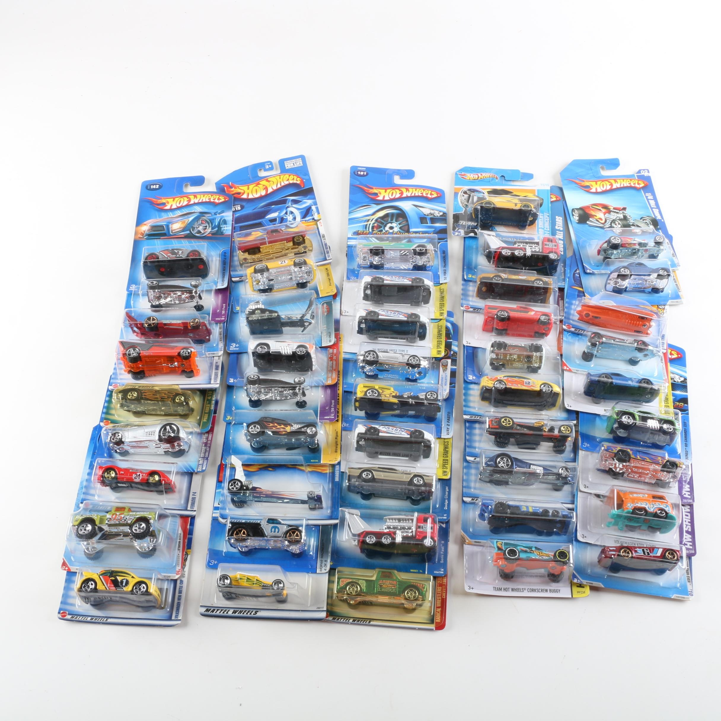 """Hot Wheels Die-Cast Collection Including """"Way 2 Fast"""" and """"HW Hot Rods"""""""