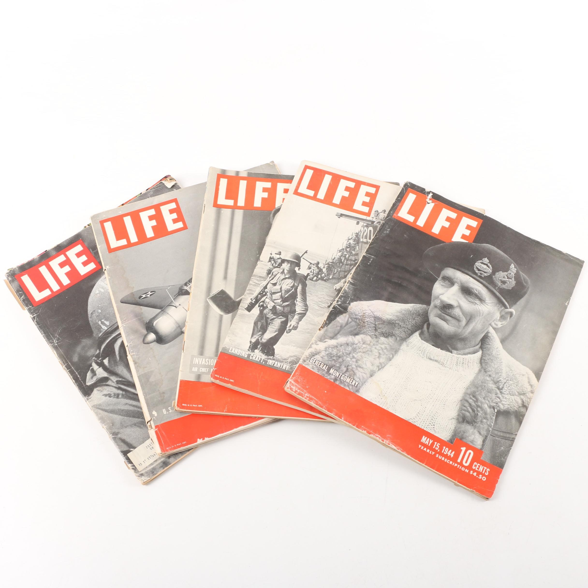 """WWII and 1967 """"Life"""" Magazines"""