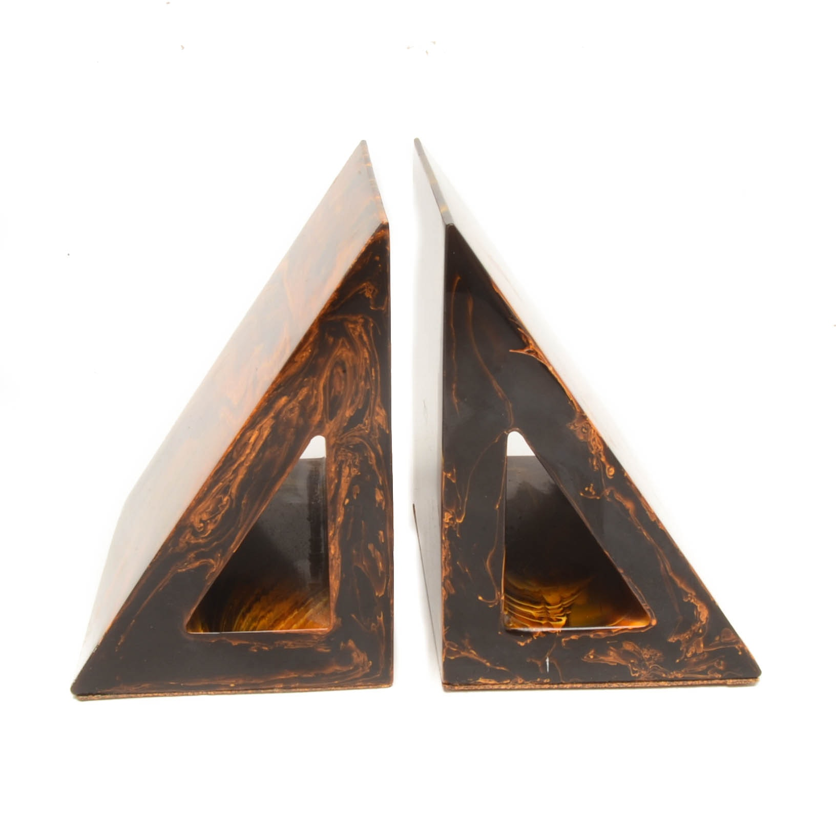 Pair of Mid Century Modernist Resin Bookends