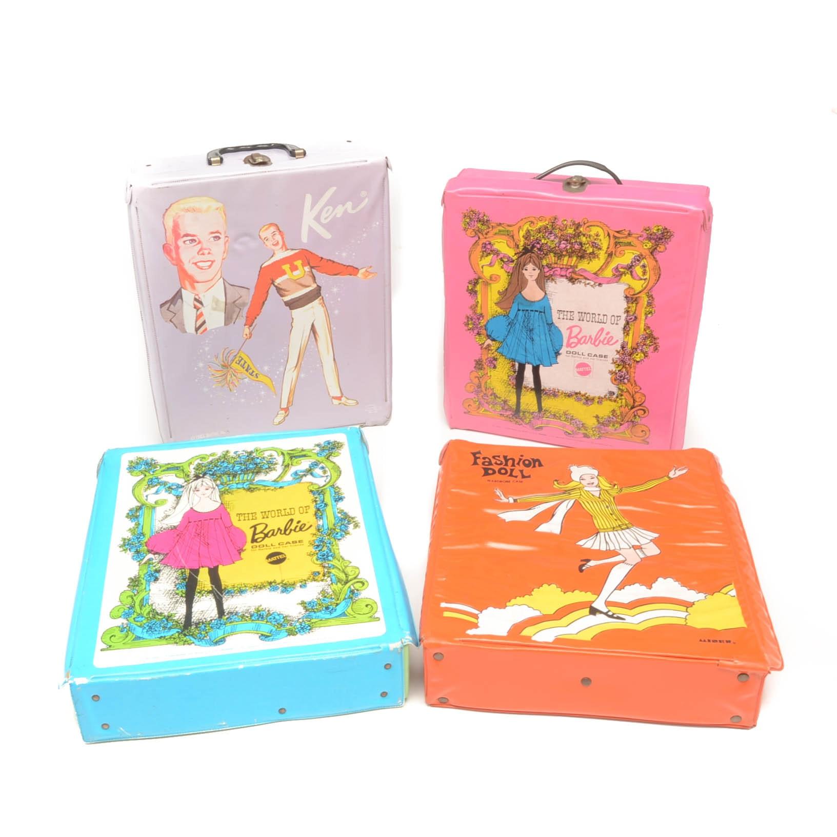 Group of Vintage Barbie Cases