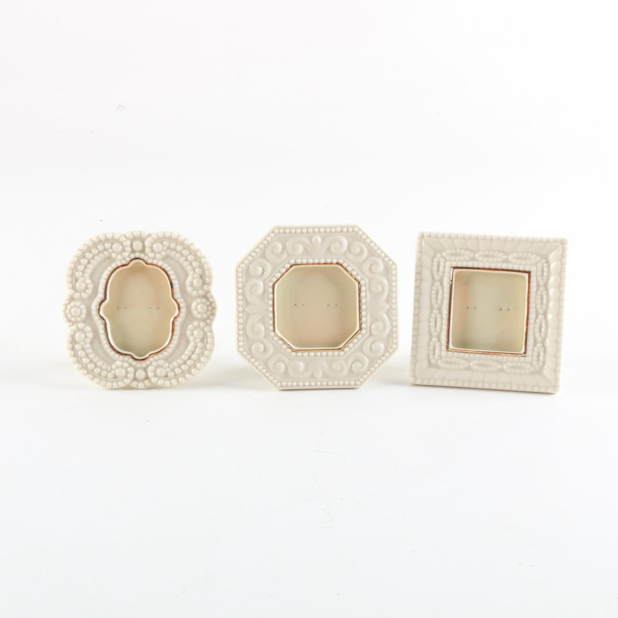 Lenox Porcelain Picture Frames with Gold Trim : EBTH