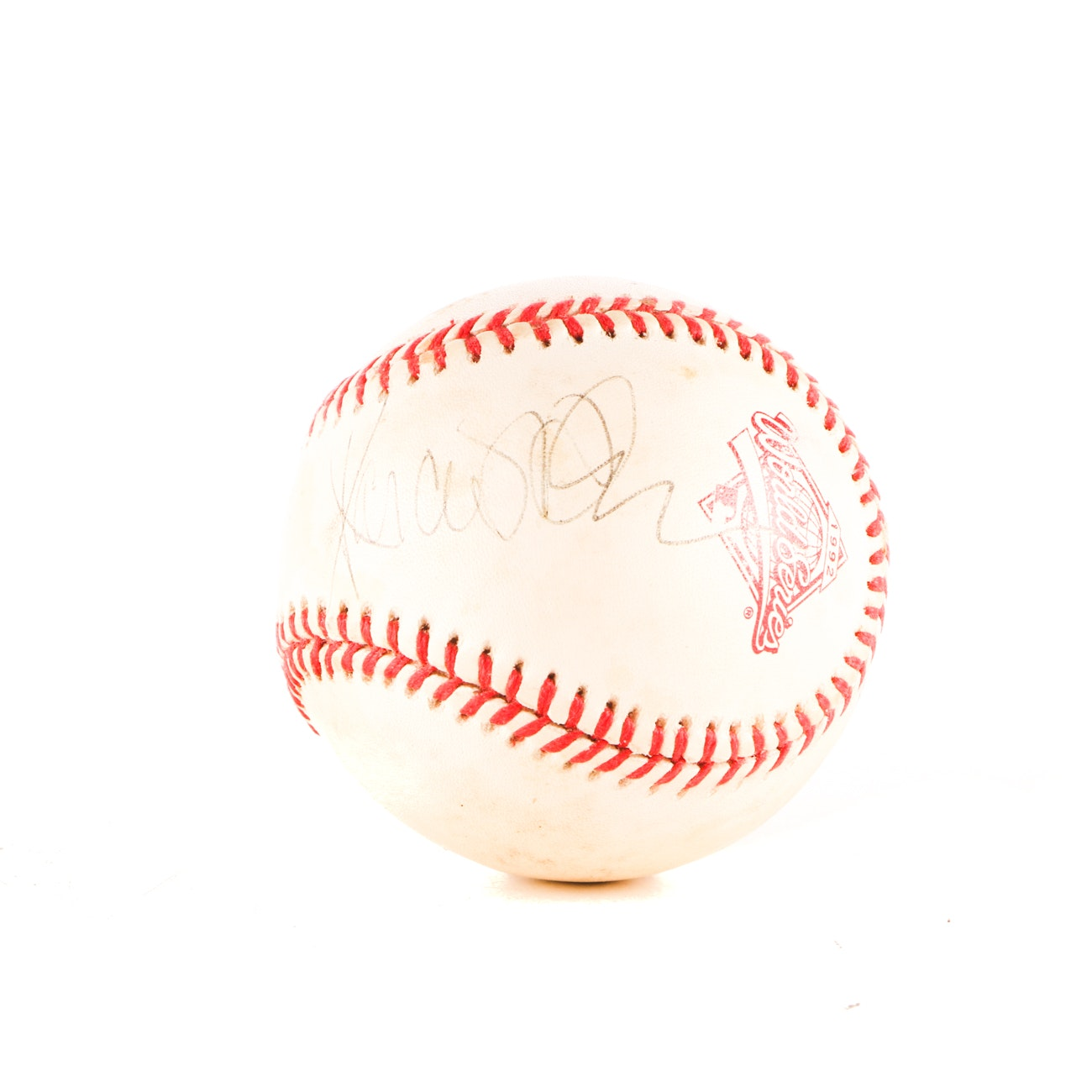 Marcus Allen Signed 1992 World Series Baseball