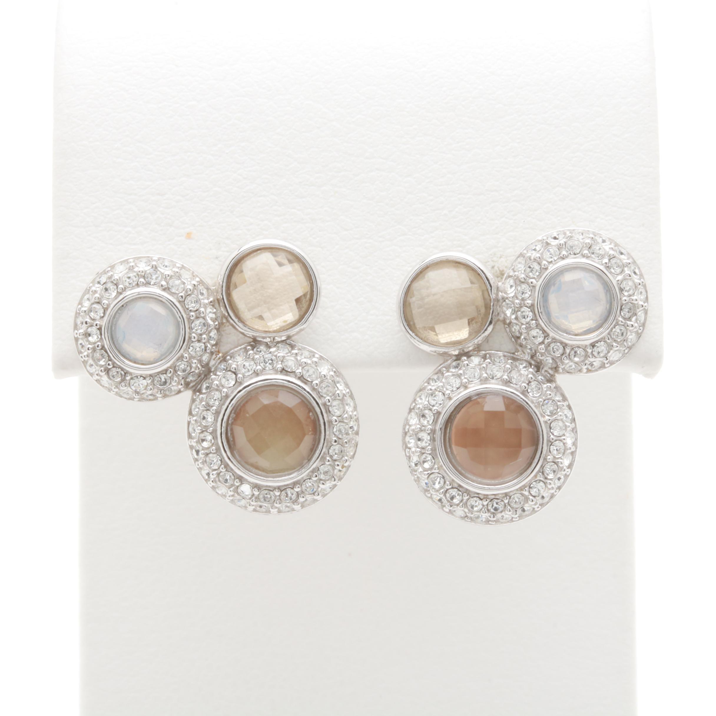 Sterling Silver Glass Earrings