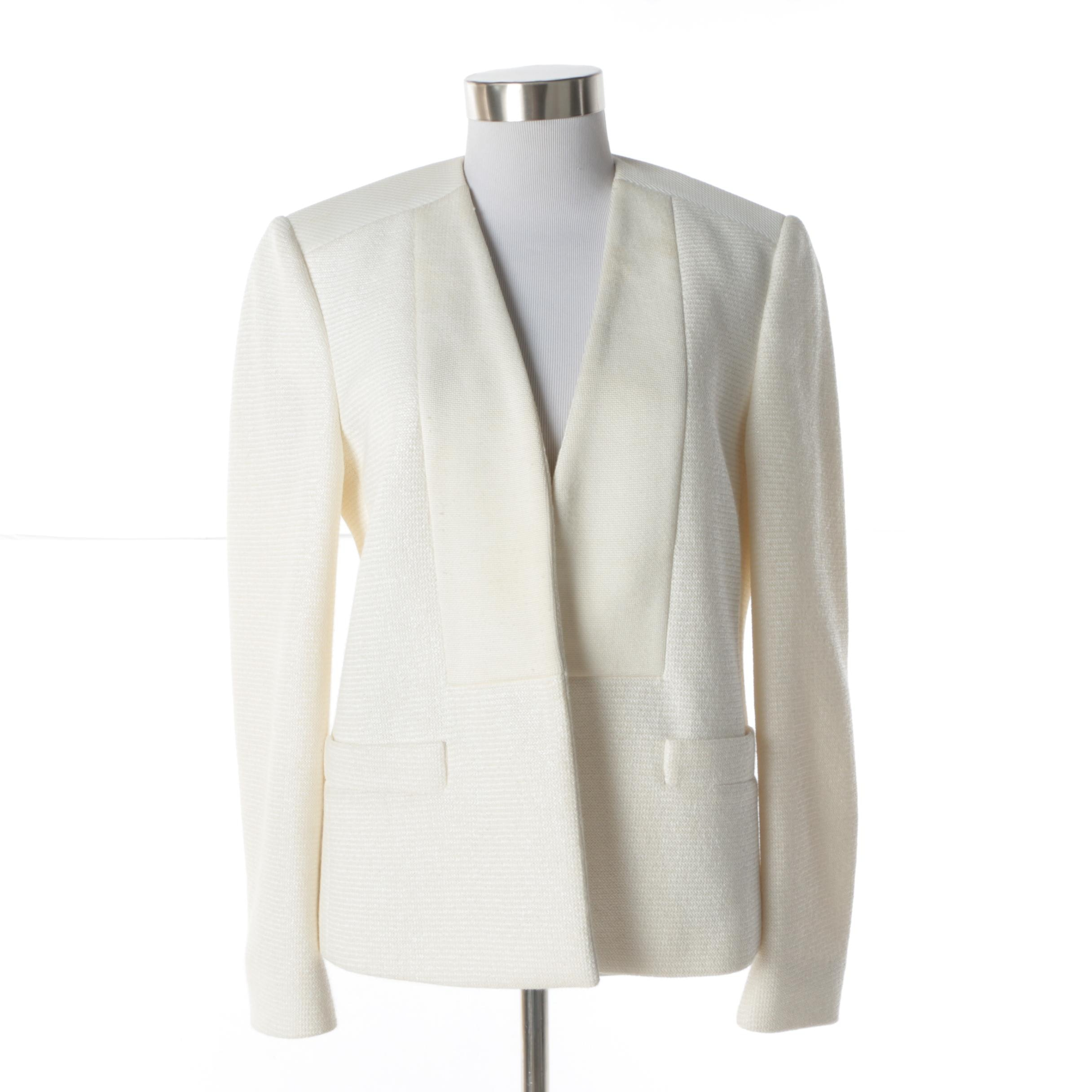 Women's M Missoni Off-White Knit Jacket
