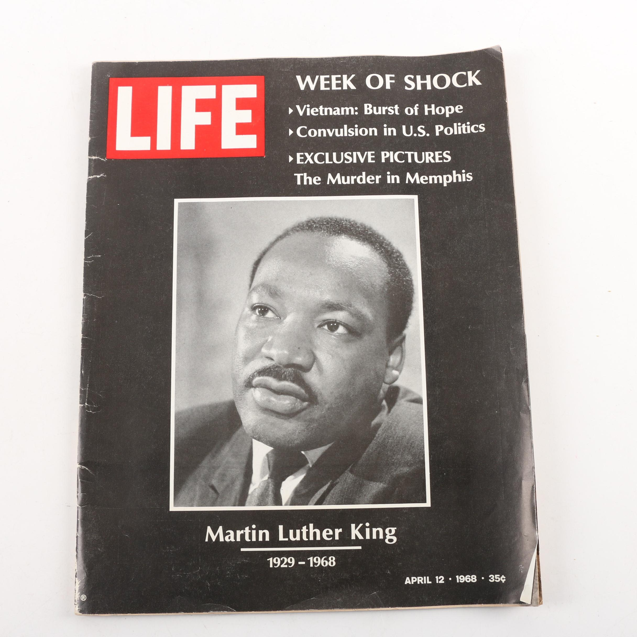 "April 12, 1968 ""LIFE"" Magazine Commemorating Martin Luther King"