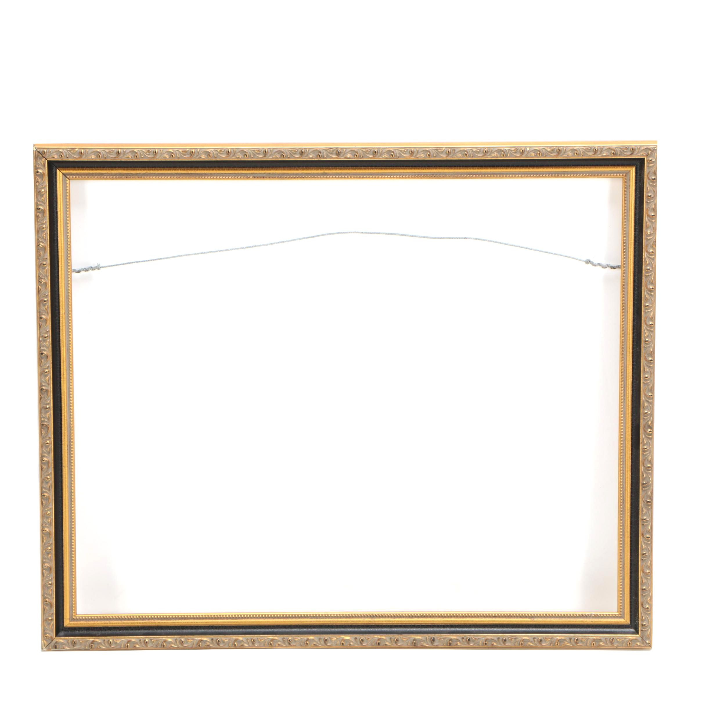 Rectangular Wood and Gesso Frame