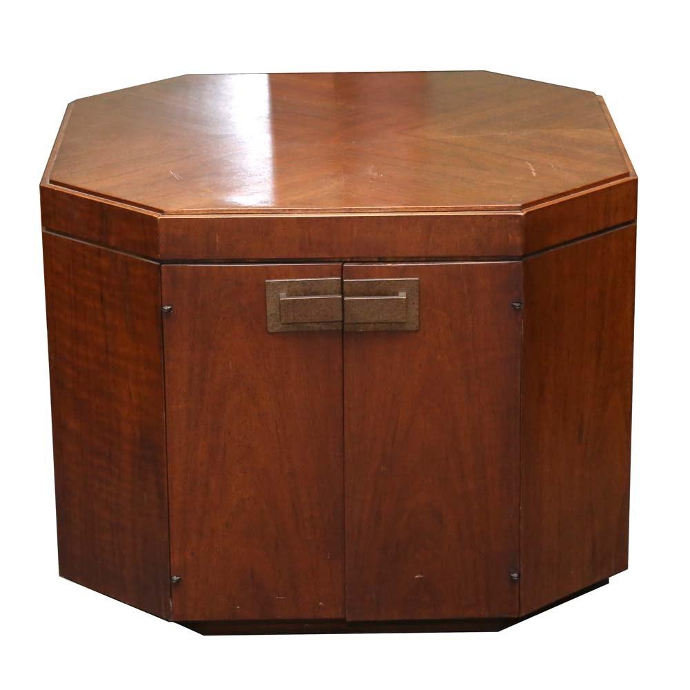 Mid Century Octagon Side Table ...
