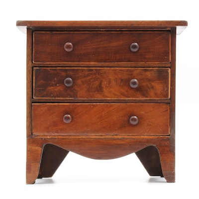 Antique Miniature Veneered Cherry Chest
