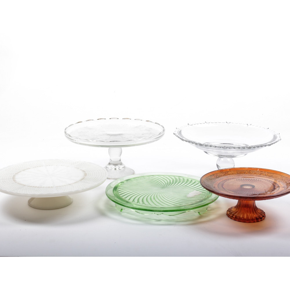 Collection of Vintage Cake Plates ...  sc 1 st  EBTH.com & Collection of Vintage Cake Plates : EBTH