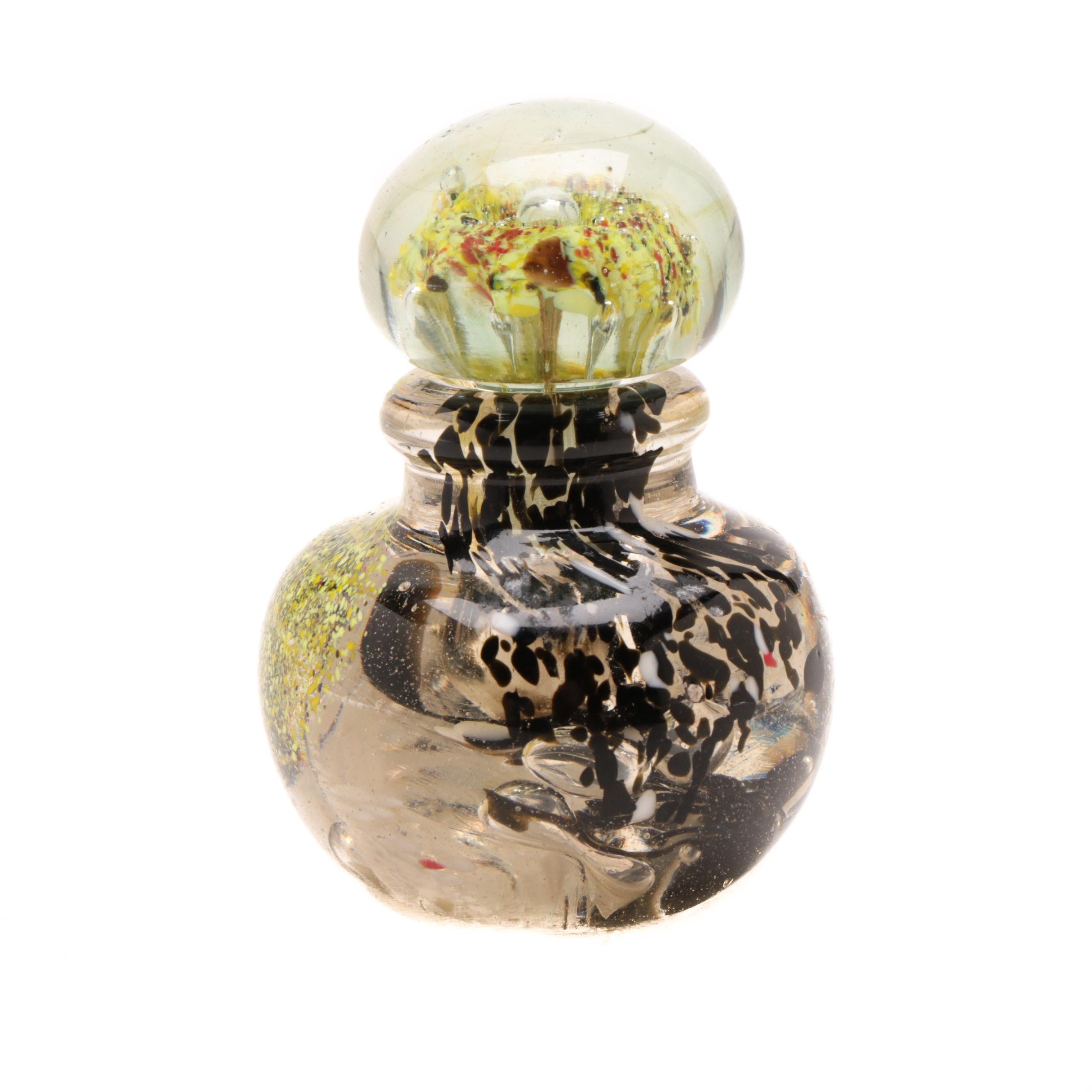 Cristalleria Stile d' Arte Murano Blown Glass Perfume Bottle with Stopper