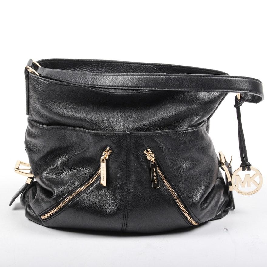 Michael Kors Black Leather Handbag   EBTH 28ad7ea77f