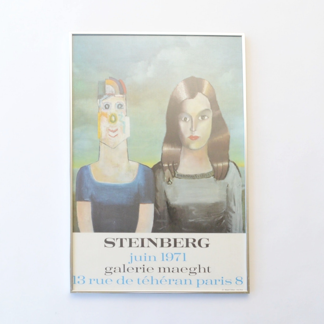 After Saul Steinberg Offset Lithograph Exhibition Poster