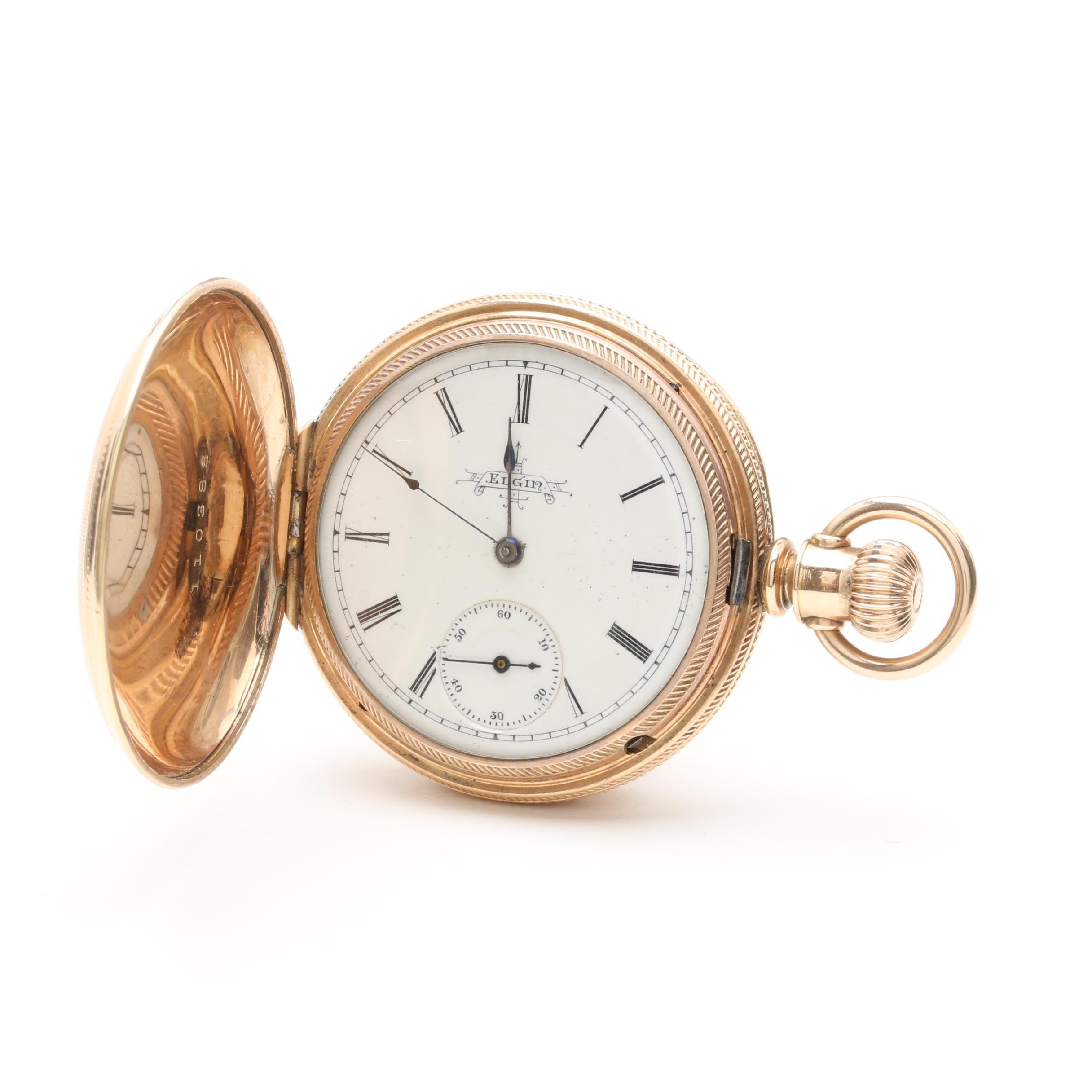 Circa 1889 Elgin Gold Filled Pocket Watch