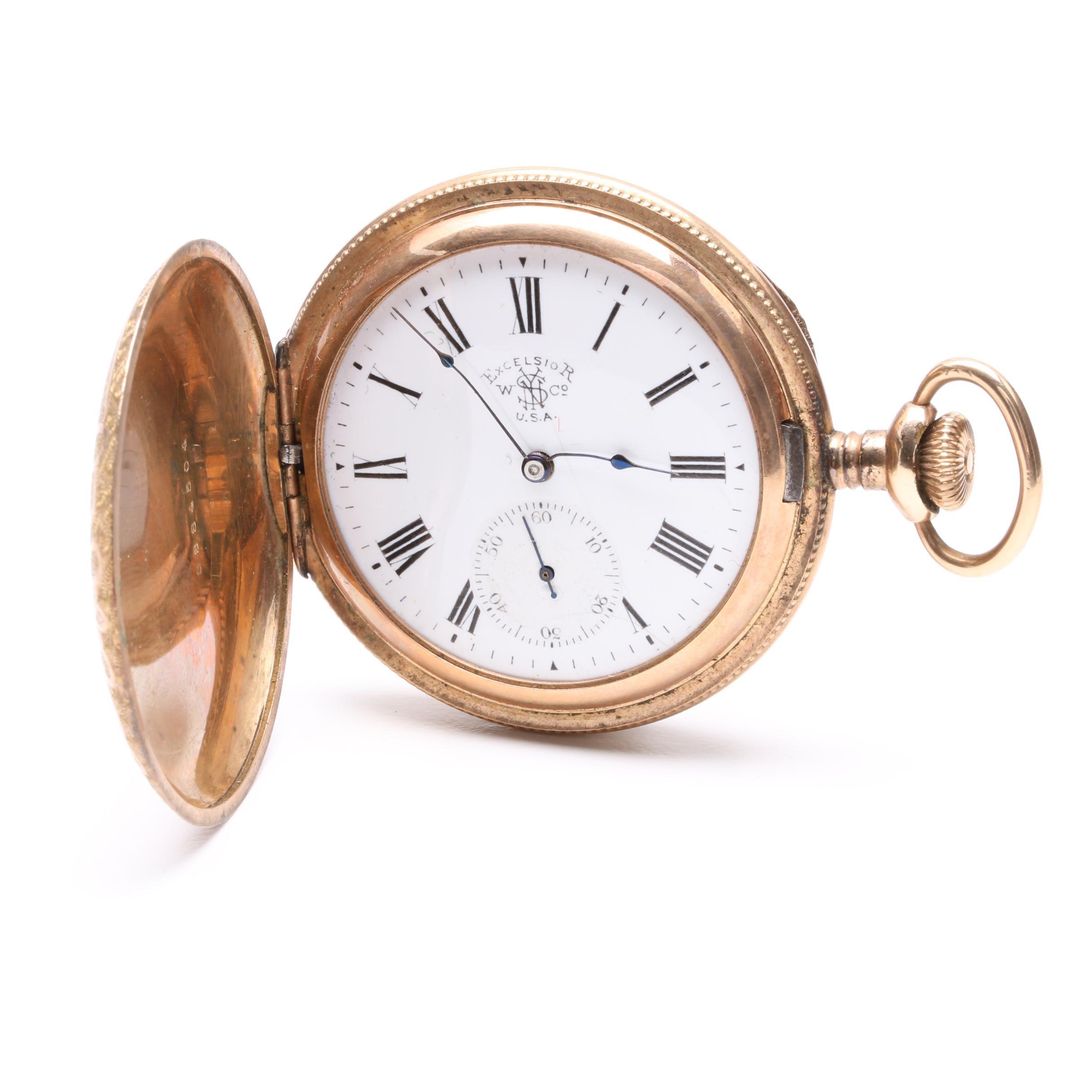Antique New York Standard Excelsior Gold Filled Pocket Watch
