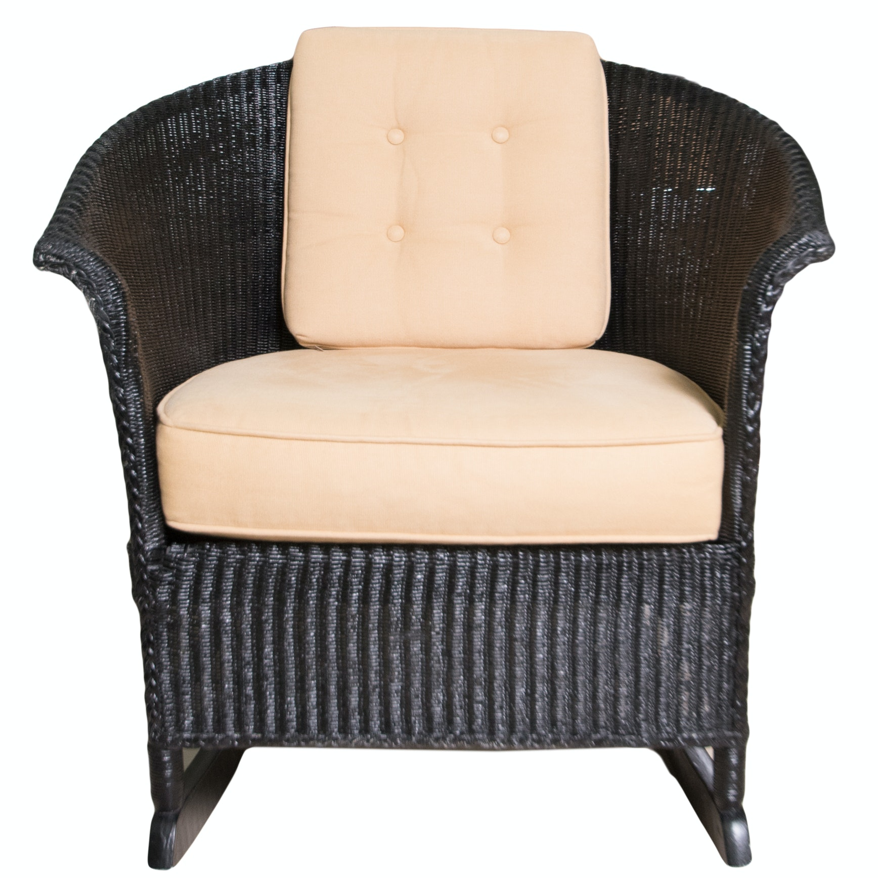 Black Wicker Rocking Chair ...