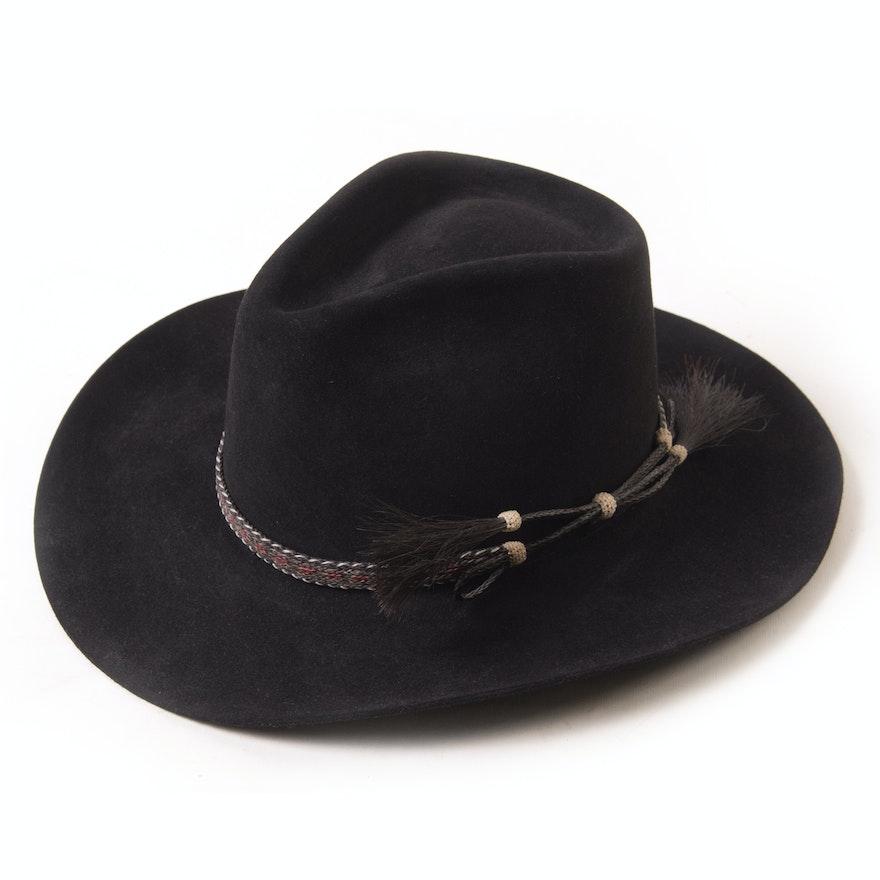 Resistol 4X Beaver Black Felted Self-Conforming Western Hat   EBTH fed83e4305e5