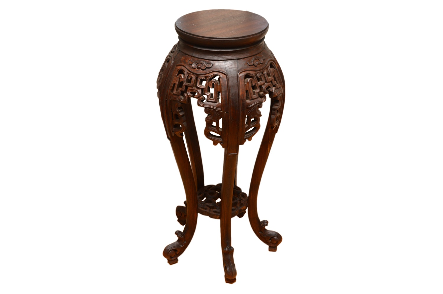 Vintage Chinese Carved Accent Table
