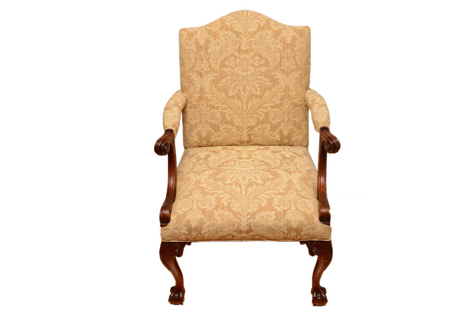 Chippendale Style Upholstered Armchair