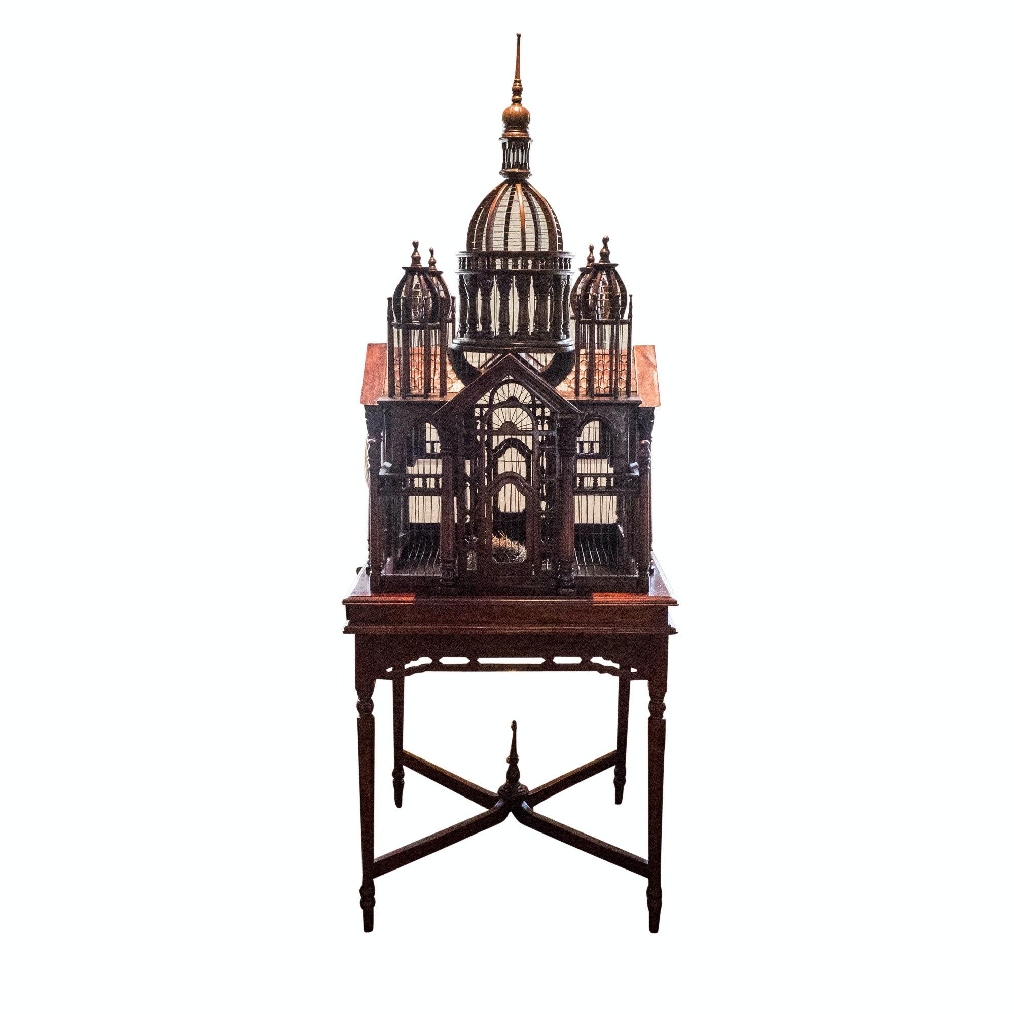 Vintage Victorian Style Architectural Birdcage
