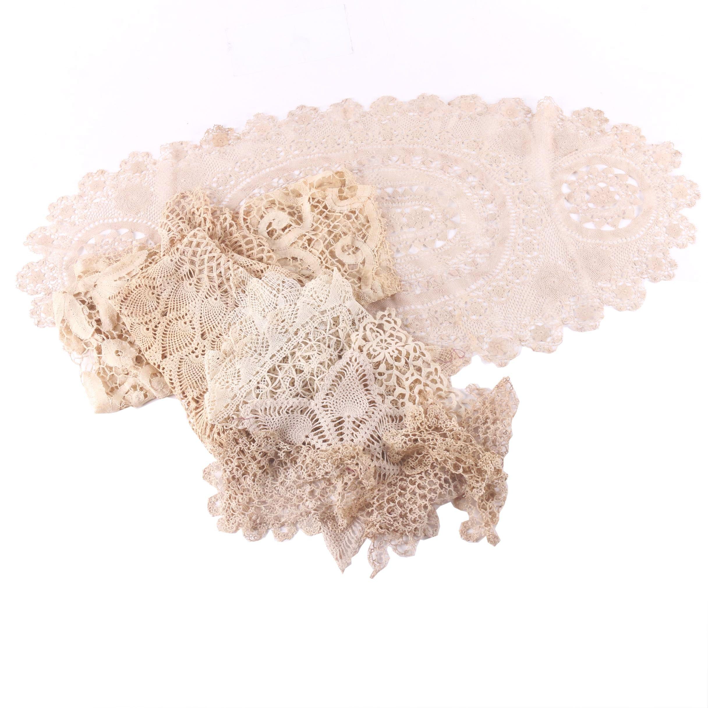 Vintage Handmade Lace Doilies