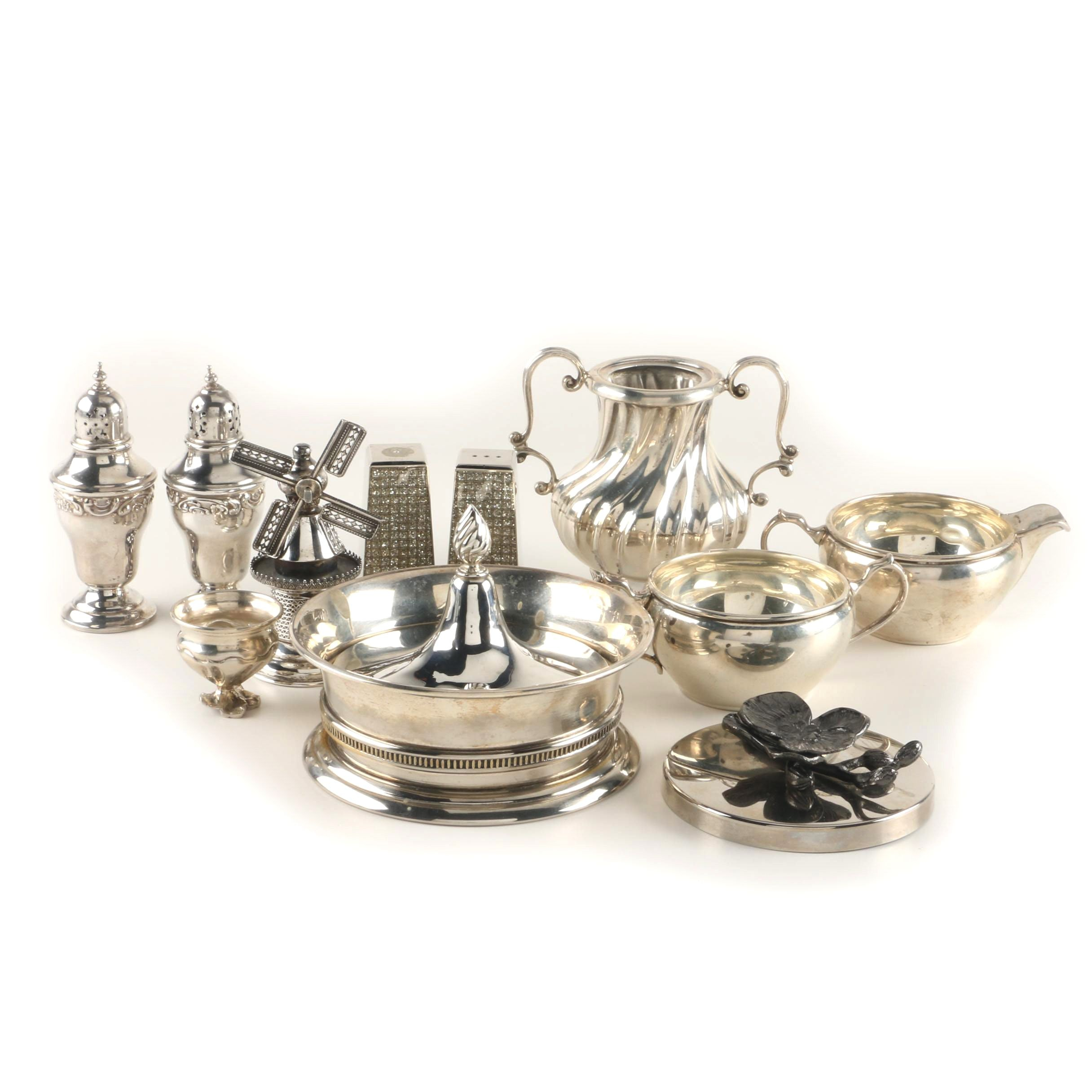 Sterling Silver and Metal Tableware Featuring Gorham Condiment Shakers  sc 1 st  EBTH.com & Pewter and Silver Plate Tableware Featuring Towle Boardman and ...