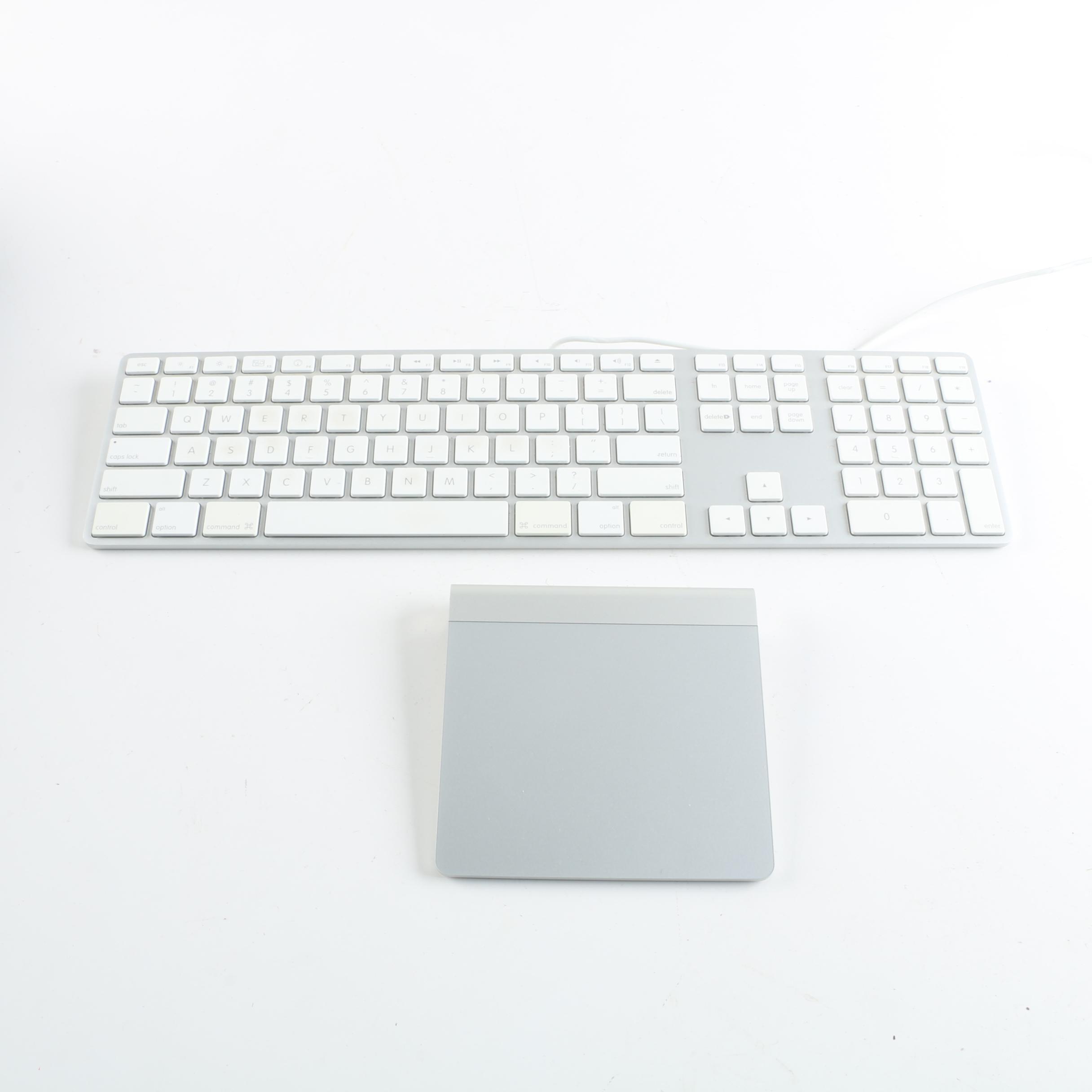 Apple A1243 Keyboard and A1339 Wireless Magic Trackpad