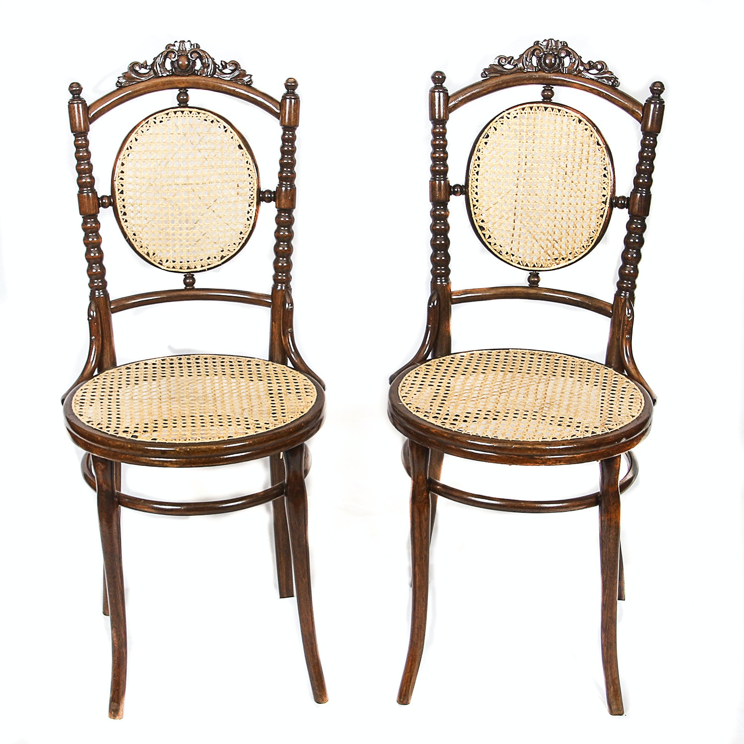 Victorian Style Caned Side Chairs