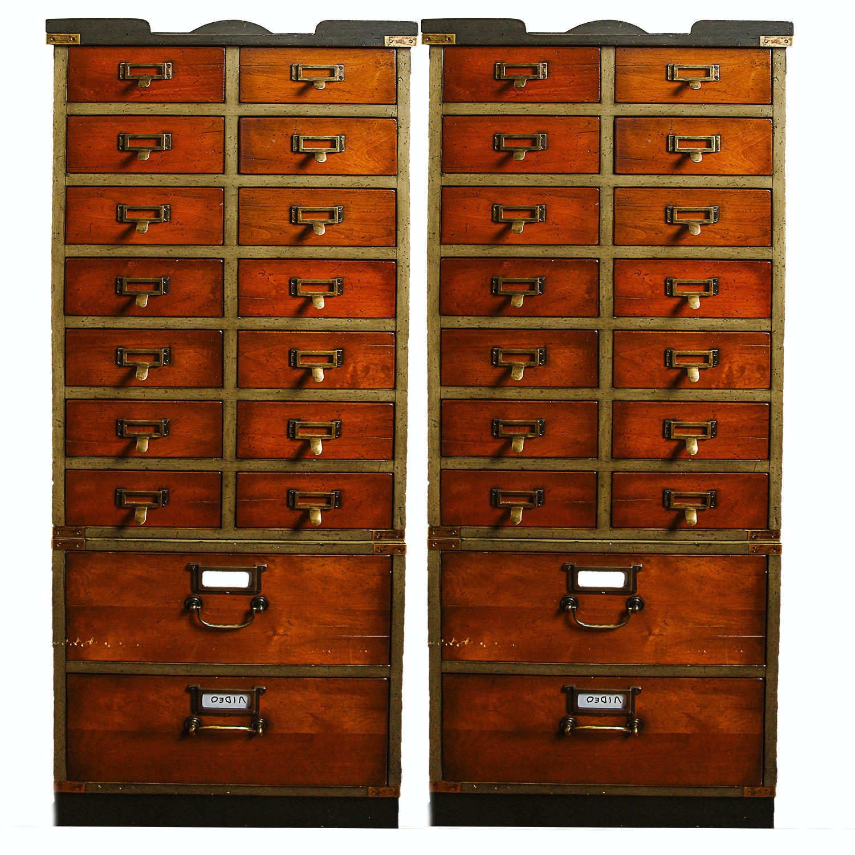 Vintage Stacking File Cabinets