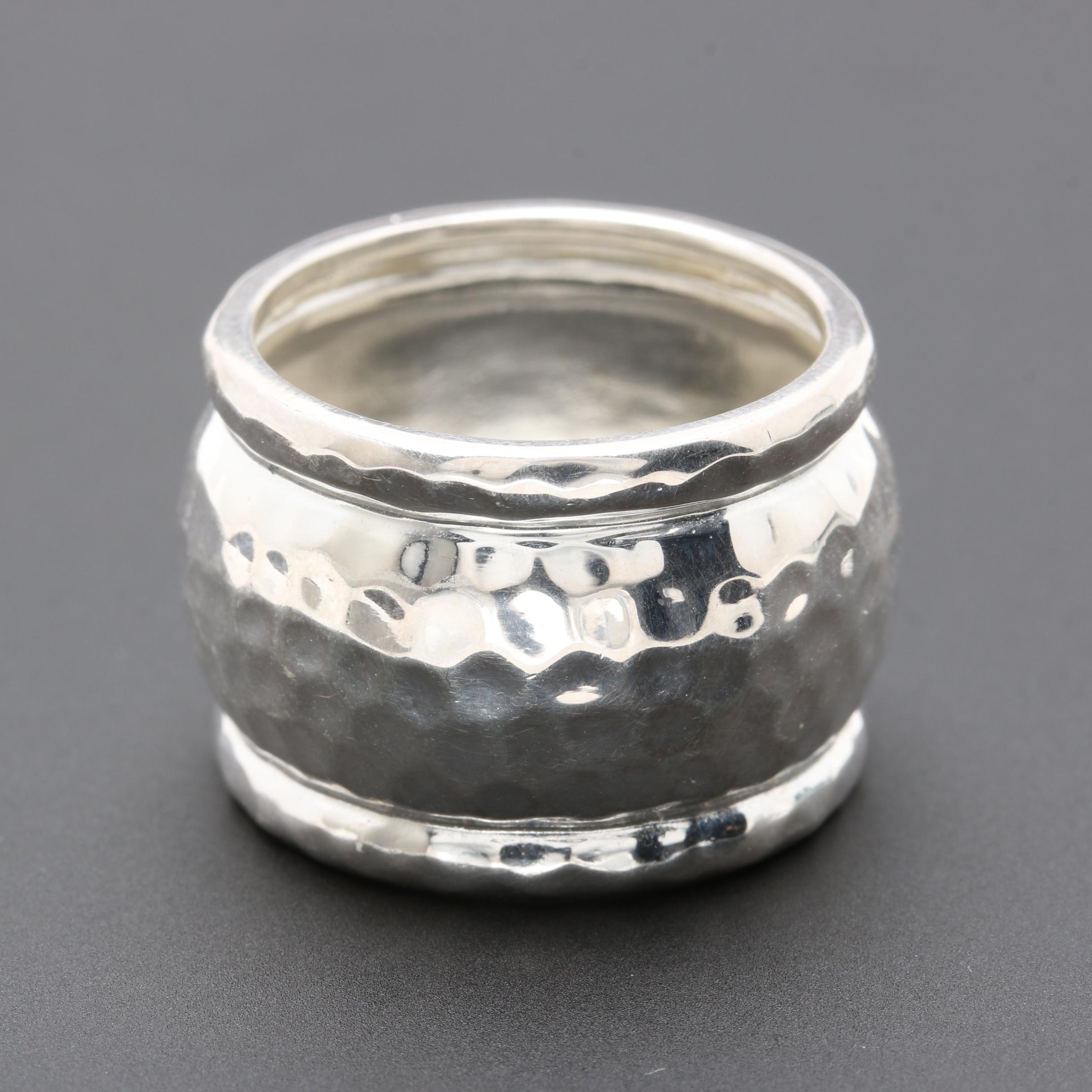 Sterling Silver Barrel Ring