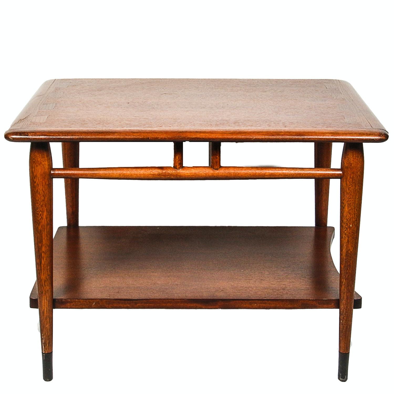 """Lane Mid Century Modern Walnut """"Acclaim"""" Side Table"""