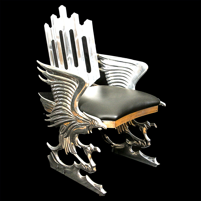 "Ray Lewis Limited Edition ""Eagle"" Cast Aluminum Armchair"