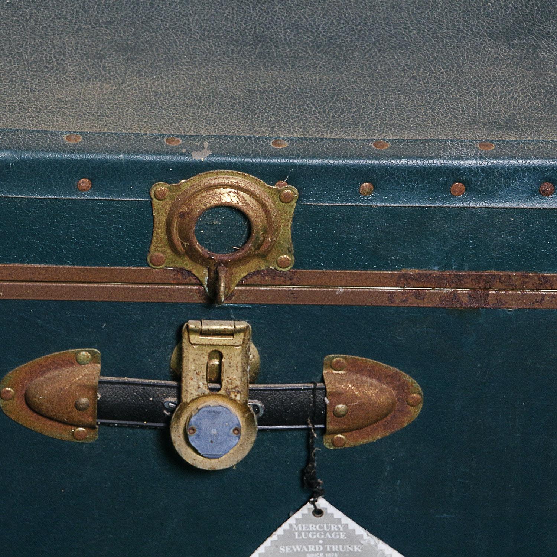Vintage Steamer Trunk by Mercury Luggage