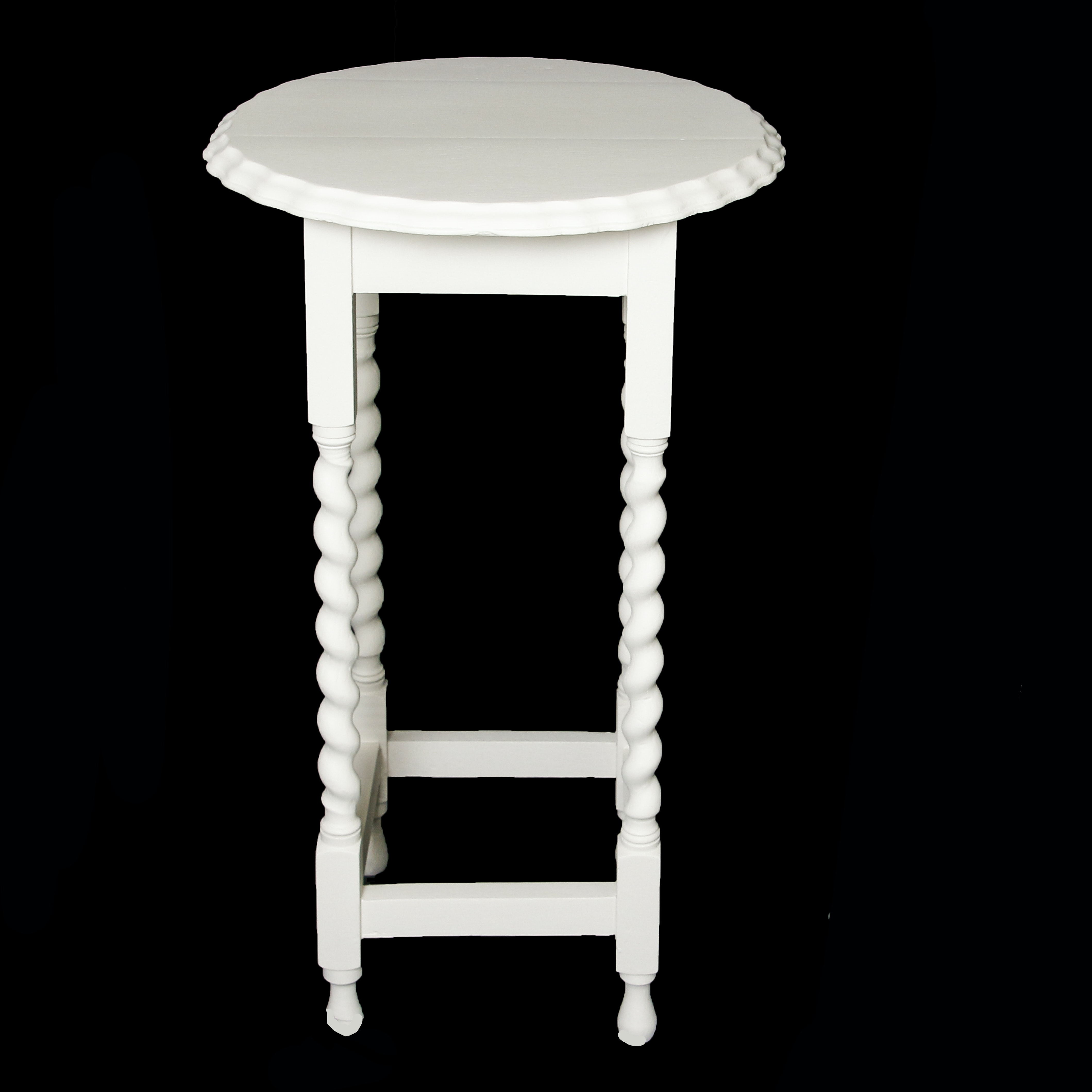 White Painted Wooden Accent Table